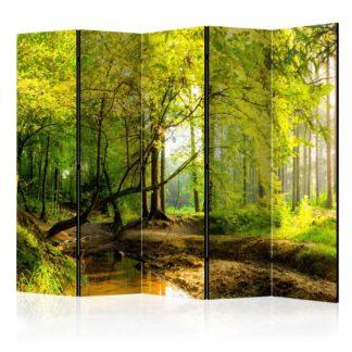 Paraván Forest Clearing Dekorhome 225x172 cm (5-dílný)