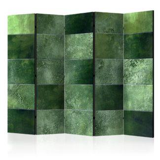 Paraván Green Puzzle Dekorhome 225x172 cm (5-dílný)
