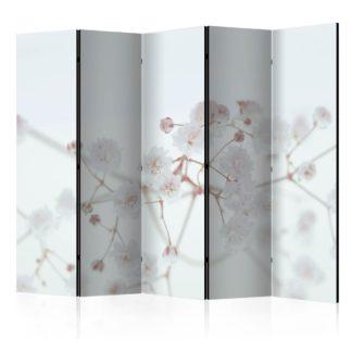 Paraván White Flowers Dekorhome 225x172 cm (5-dílný)