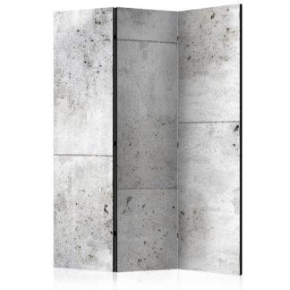 Paraván Concretum murum Dekorhome 135x172 cm (3-dílný)