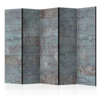 Paraván Turquoise Concrete Dekorhome 225x172 cm (5-dílný)