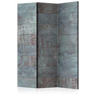 Paraván Turquoise Concrete Dekorhome 135x172 cm (3-dílný)