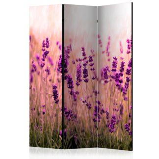 Paraván Lavender in the Rain Dekorhome 135x172 cm (3-dílný)