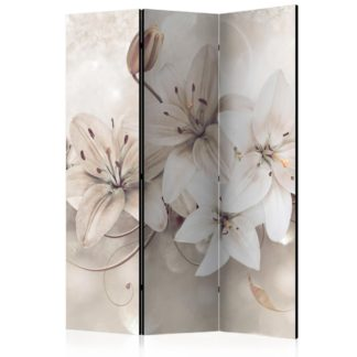 Paraván Diamond Lilies Dekorhome 135x172 cm (3-dílný)