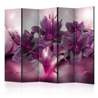 Paraván The Purple Flame Dekorhome 225x172 cm (5-dílný)