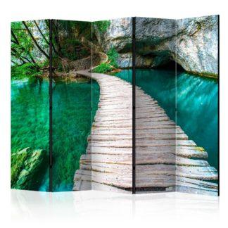 Paraván Emerald Lake Dekorhome 225x172 cm (5-dílný)