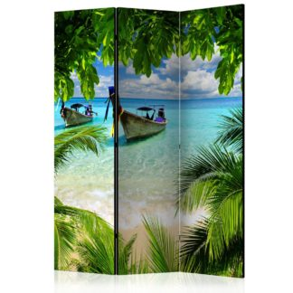 Paraván Tropical Paradise Dekorhome 135x172 cm (3-dílný)