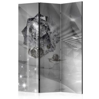 Paraván Abstract Greyness Dekorhome 225x172 cm (5-dílný)