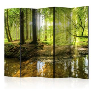 Paraván Forest Lake Dekorhome 225x172 cm (5-dílný)