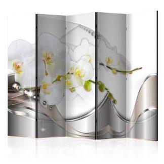 Paraván Pearl Dance of Orchids Dekorhome 225x172 cm (5-dílný)