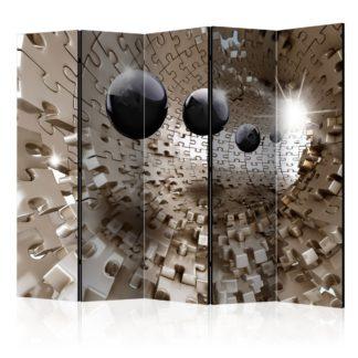 Paraván Golden Jigsaw Dekorhome 225x172 cm (5-dílný)