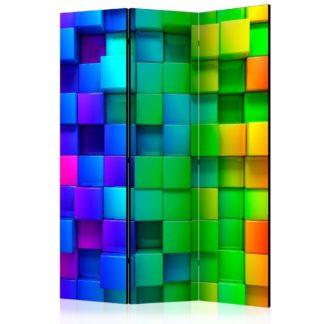 Paraván Colourful Cubes Dekorhome 135x172 cm (3-dílný)