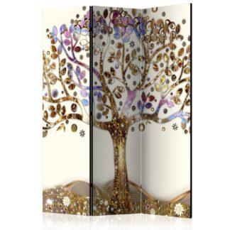 Paraván Golden Tree Dekorhome 135x172 cm (3-dílný)