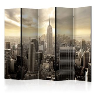 Paraván Light of New York Dekorhome 225x172 cm (5-dílný)