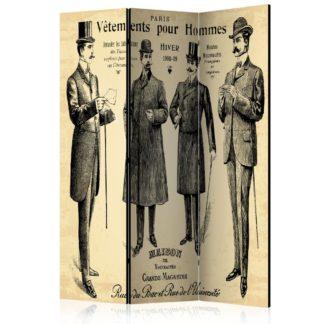 Paraván Vetements pour Homme Dekorhome 135x172 cm (3-dílný)