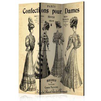 Paraván Confections pour Dames Dekorhome 135x172 cm (3-dílný)