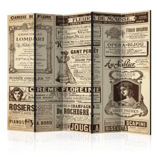 Paraván Vintage Magazines Dekorhome 225x172 cm (5-dílný)