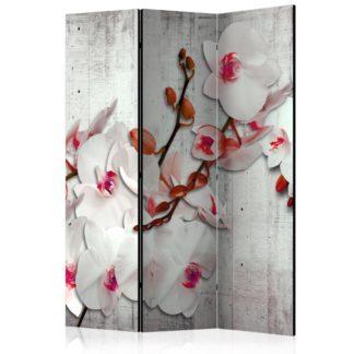 Paraván Concrete Orchid Dekorhome 135x172 cm (3-dílný)