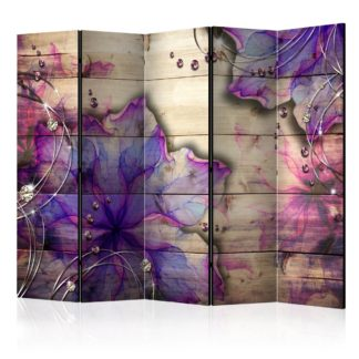 Paraván Purple Memory Dekorhome 225x172 cm (5-dílný)