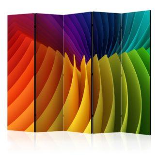 Paraván Rainbow Wave Dekorhome 225x172 cm (5-dílný)