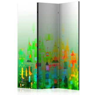Paraván Abstract City Dekorhome 135x172 cm (3-dílný)