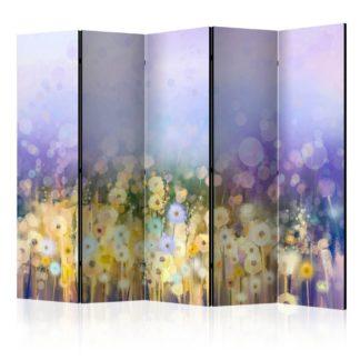 Paraván Painted Meadow Dekorhome 225x172 cm (5-dílný)
