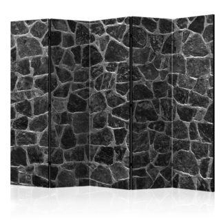 Paraván Black Stones Dekorhome 225x172 cm (5-dílný)