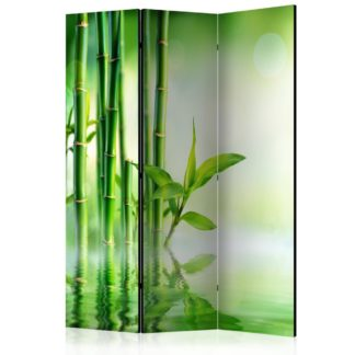 Paraván Green Bamboo Dekorhome 135x172 cm (3-dílný)
