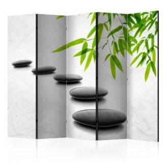 Paraván Zen Stones Dekorhome 225x172 cm (5-dílný)