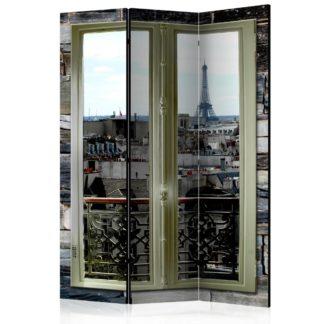 Paraván Parisian View Dekorhome 135x172 cm (3-dílný)