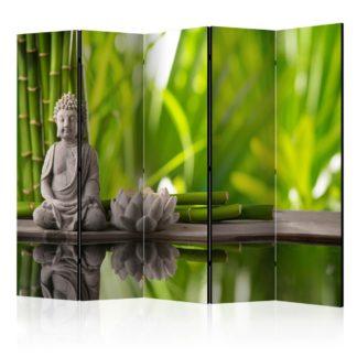 Paraván Meditation Dekorhome 225x172 cm (5-dílný)