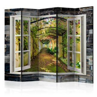 Paraván Secret Garden Dekorhome 225x172 cm (5-dílný)