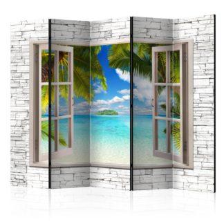 Paraván Dream Island Dekorhome 225x172 cm (5-dílný)