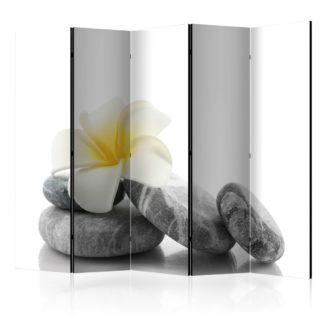 Paraván White Lotus Dekorhome 225x172 cm (5-dílný)