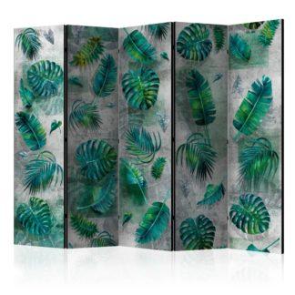 Paraván Modernist Jungle Dekorhome 225x172 cm (5-dílný)