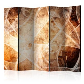 Paraván Brown Texture Dekorhome 225x172 cm (5-dílný)