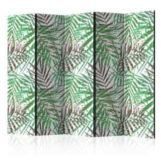 Paraván Wild Leaves Dekorhome 225x172 cm (5-dílný)
