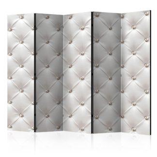 Paraván White Elegance Dekorhome 225x172 cm (5-dílný)