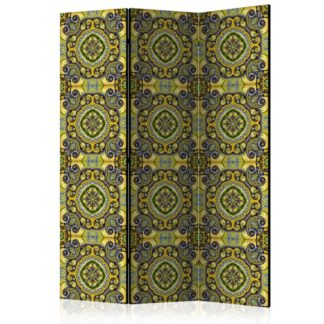 Paraván Malachite Mosaic Dekorhome 135x172 cm (3-dílný)