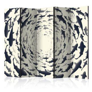 Paraván Fish Swirl Dekorhome 225x172 cm (5-dílný)