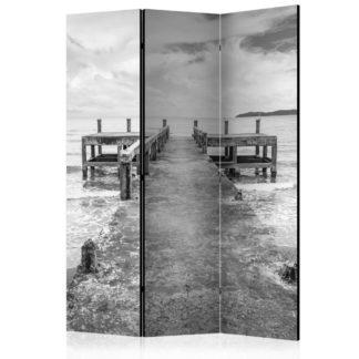 Paraván Concrete Pier Dekorhome 135x172 cm (3-dílný)