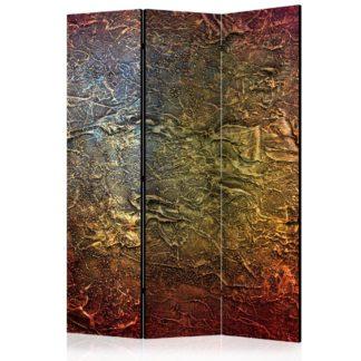 Paraván Red Gold Dekorhome 135x172 cm (3-dílný)