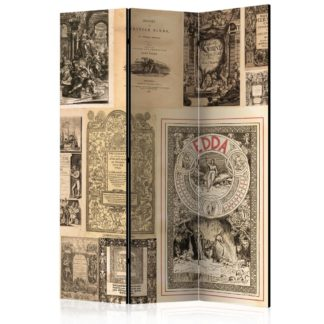 Paraván Vintage Books Dekorhome 135x172 cm (3-dílný)
