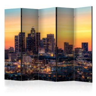 Paraván Californian Evening Dekorhome 225x172 cm (5-dílný)