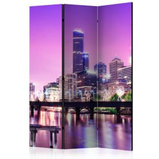 Paraván Purple Melbourne Dekorhome 135x172 cm (3-dílný)