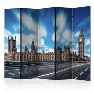 Paraván Sunny London Dekorhome 225x172 cm (5-dílný)
