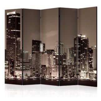 Paraván Miami in Sepia Dekorhome 225x172 cm (5-dílný)