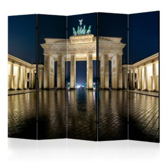 Paraván Berlin at Night Dekorhome 225x172 cm (5-dílný)