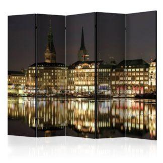 Paraván Night in Hamburg Dekorhome 225x172 cm (5-dílný)