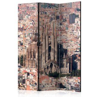 Paraván Heart of Barcelona Dekorhome 135x172 cm (3-dílný)